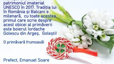 Photo of Felicitare- Emanuel Soare, Prefect al Județului Argeș