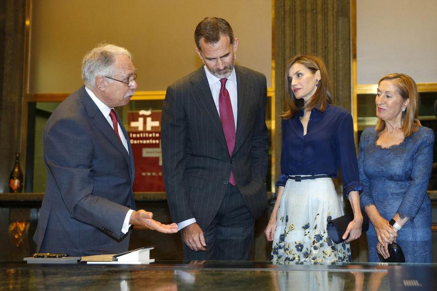 La reine Letizia et le roi Felipe VI d Espagne a Madrid le 7 septembre 20163